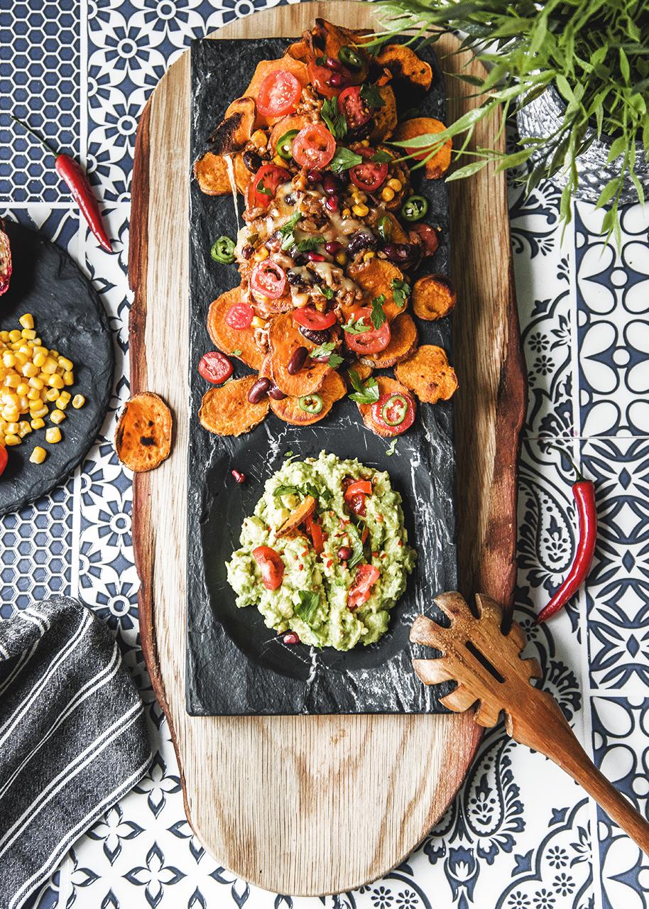 Zdrowe nachosy z batatów