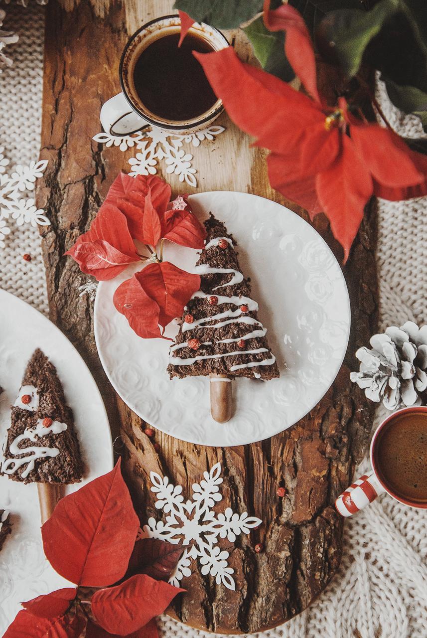 Świąteczne choinki brownie z porto